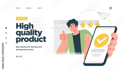 Landing page template of developing computer software, coding and programming . Modern flat design concept of web page design for website. Vector illustration
