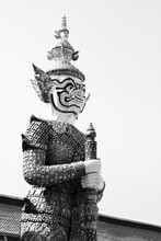 A Monochrome Image Of A Thai S...