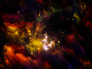 Fototapeta na wymiar Nebula Lights