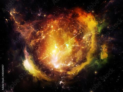 Exploding Nebula Fototapet