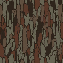 Vector Seamless Camo Tree Bark Tiger Army Fatigue Pattern Design
