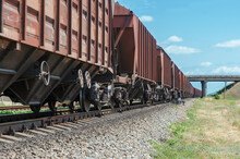 Wagons Of A Freight Train In M...