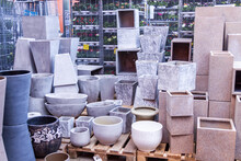 Glazed And Unglazed Ceramic Flower Pots