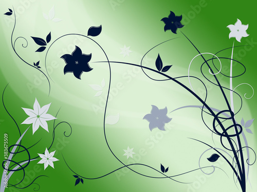 Elegant Floral Background Shows Beautiful Nature Season,
