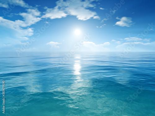 blue sky ocean