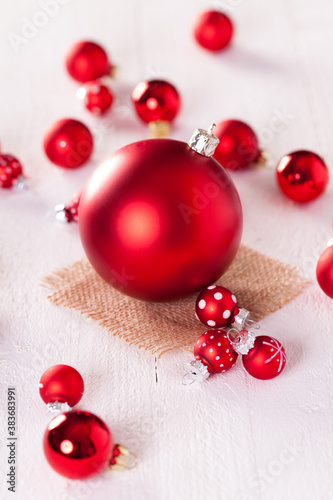 Red themed Christmas background
