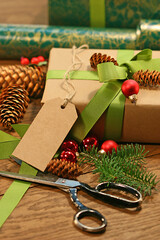 Wrapping gifts for the holidays