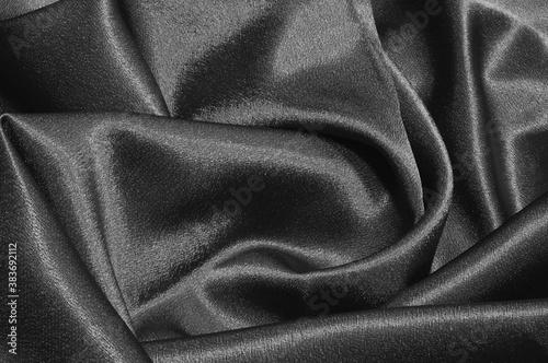 Obraz na plátně black satin background