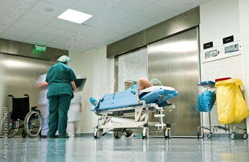 Obraz na plátně Hospital corridor