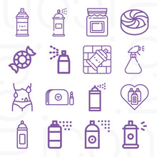 16 Pack Of Exhausted  Lineal Web Icons Set