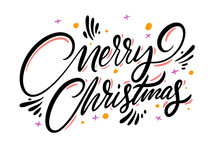 Merry Christmas. Lettering Phr...
