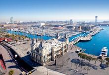 Aerial Barcelona Port Marina V...