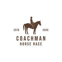 Coachman Logo Design Vector