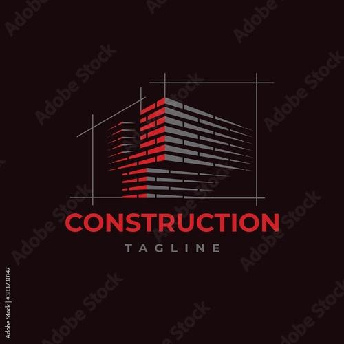 Cuadros en Lienzo Home build symbol logo design vector template