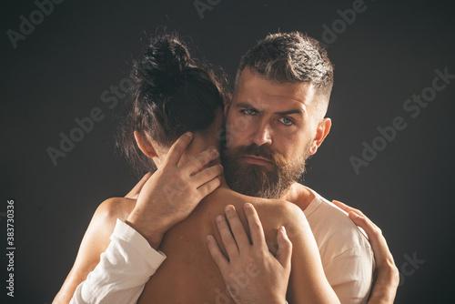Valokuva Young passionate couple