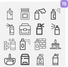 Simple Set Of Played Out Related Lineal Icons.