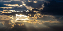 Blurred Sky Dark, Sky And Sunl...