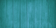 Turquoise Wood Planks. Background Surface