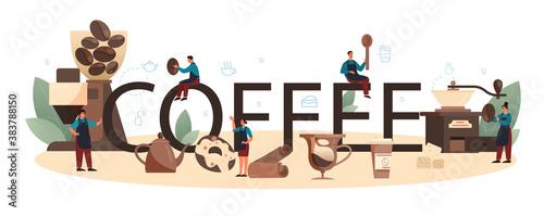 Fotografie, Obraz Coffee typographic header