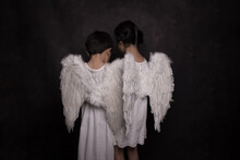 Angels In White With Wings