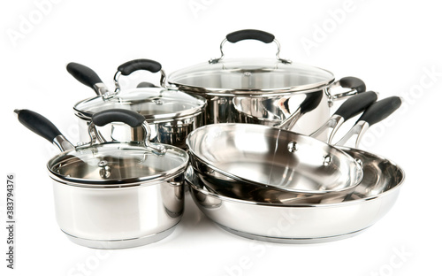 Valokuva Stainless steel pots and pans