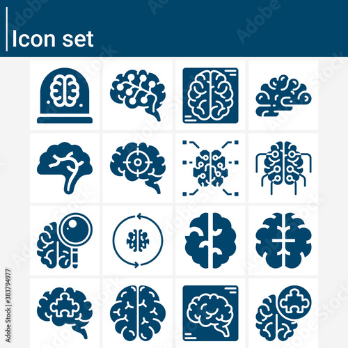 Valokuva Simple set of prior related filled icons.