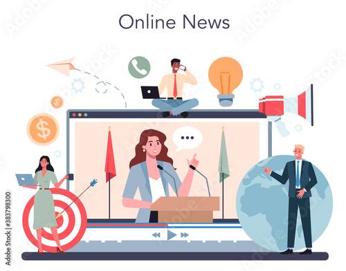 Foto Politician online service or platform