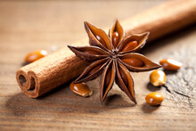 Anise Star And Cinnamon Stick ...