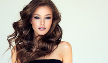 Beautiful Model Girl With Long...