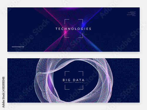 Abstract tech visuals. Digital technology