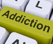 Addiction Key Means Obsession,