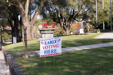 An Early Voting Here Sign On T...