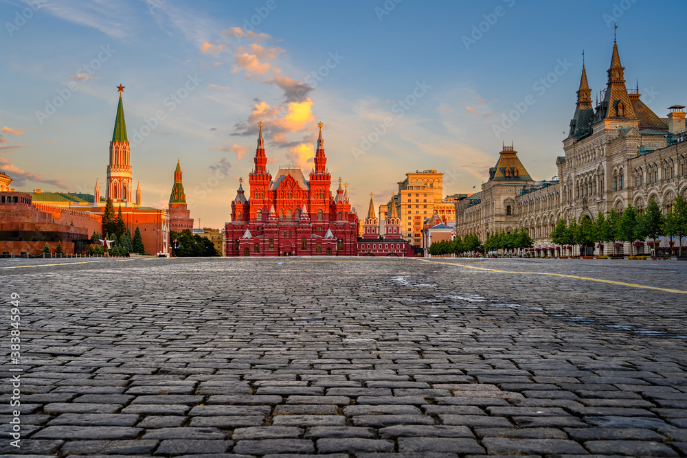 Fototapeta Red Square, Moscow Kremlin and State Historical Museum in Moscow, Russia. Architecture and landmarks of Moscow.