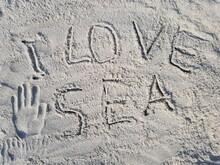 """The Inscription On The Sand """"I..."""