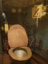 Old Toilet On Military Submarine