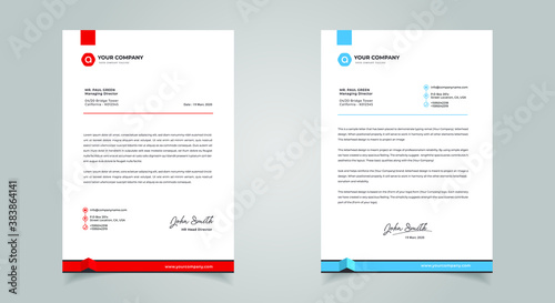 Abstract Letterhead Design Modern Business Letterhead Design Template Wallpaper Mural