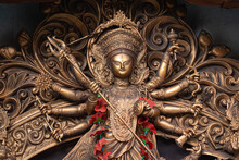 Goddess Durga Idol At Decorate...