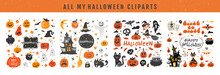 Halloween Design Elements . Ha...