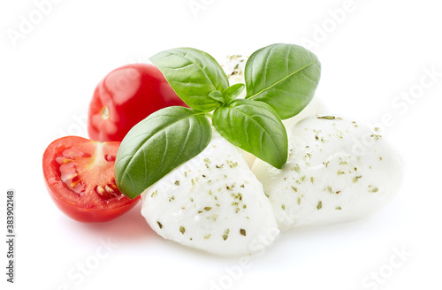 Carta da parati Mozarella with tomatoes and basil leaves