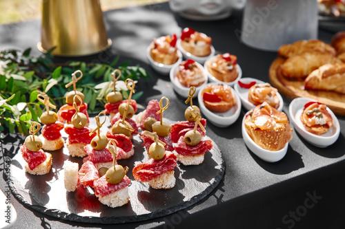 Fotografie, Obraz Outdoor catering banquet in summer