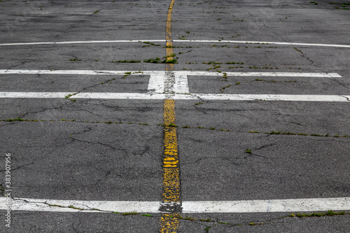 road marking on an airstrip