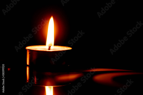 Photo candle in the dark