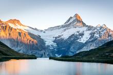 Bachalpsee Lake In Swiss Alps ...