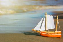 Model Of A Sailing Ship Made O...