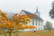 Little White Church On A Foggy...