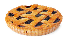 Berry Tart Pie Isolated On Whi...