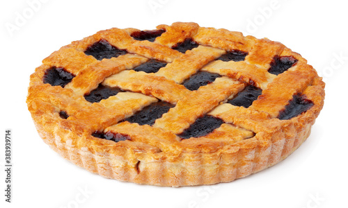 Photo Berry tart pie isolated on white background