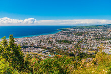 Panorama On The City Of Saint-Denis, Chief Town Of Reunion Island