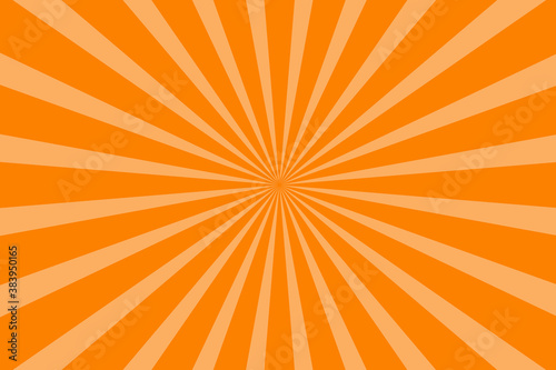 Fototapeta Yellow-orange sunshine colorful vector background. Abstract orange wallpaper for banner, ad, social media and template. Stock vector illustration. obraz