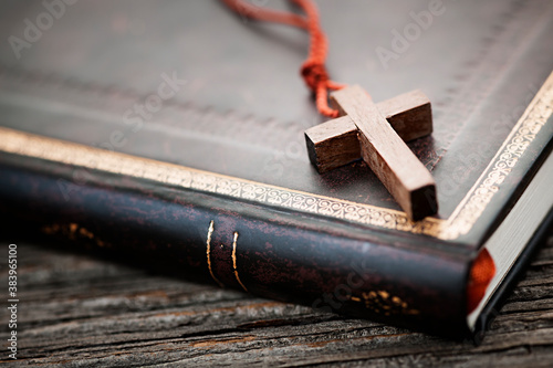 Cuadros en Lienzo Cross on Bible